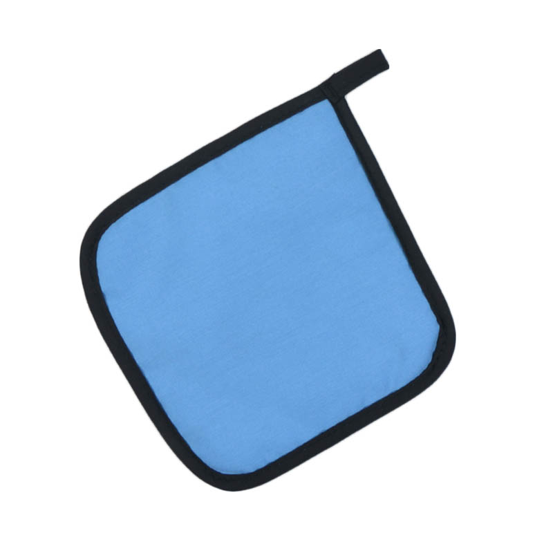 "Intedge 315 LB Poly Cotton Pot Holder, 8 x 8"", Light Blue"