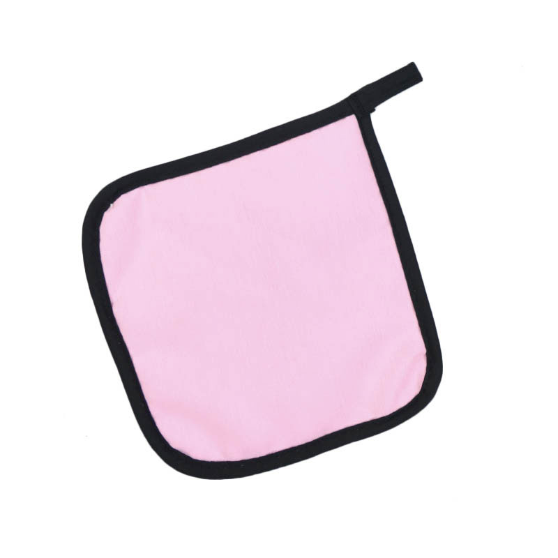 "Intedge 315 LP Poly Cotton Pot Holder, 8 x 8"", Light Pink"