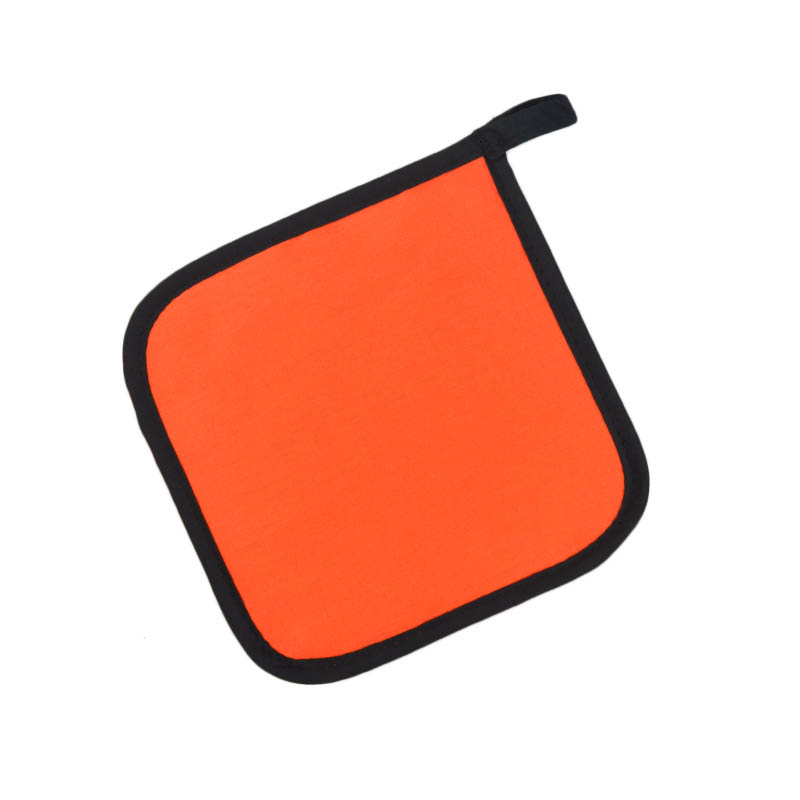 "Intedge 315 OR Poly Cotton Pot Holder, 8 x 8"", Orange"