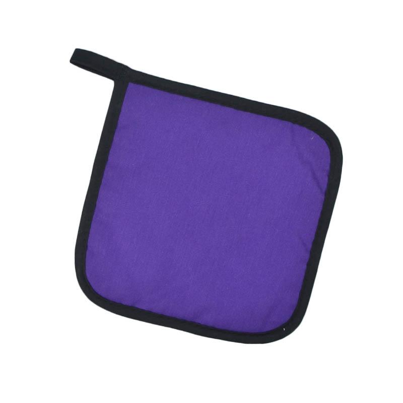 "Intedge 315 PUR Poly Cotton Pot Holder, 8 x 8"", Purple"