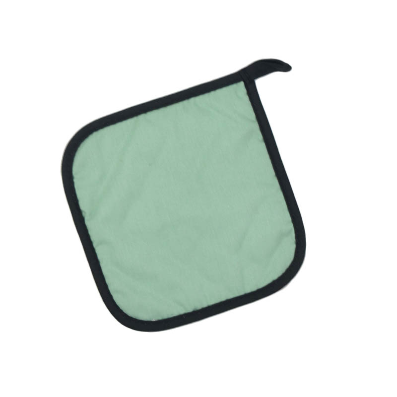 "Intedge 315 SF Poly Cotton Pot Holder, 8 x 8"", Seafoam Green"