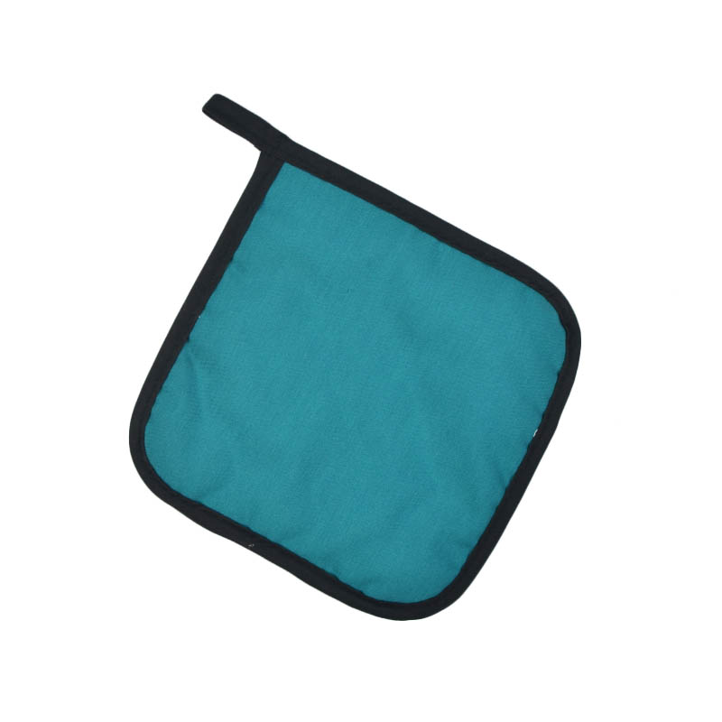 "Intedge 315 T Poly Cotton Pot Holder, 8 x 8"", Teal"