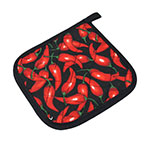 Intedge 317CH Pot Holder, 7 in x 7 in, Chili Pepper Design