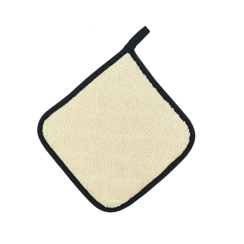 Intedge 318T-8 Terry Pot Holder, 8 x 8-in, Natural