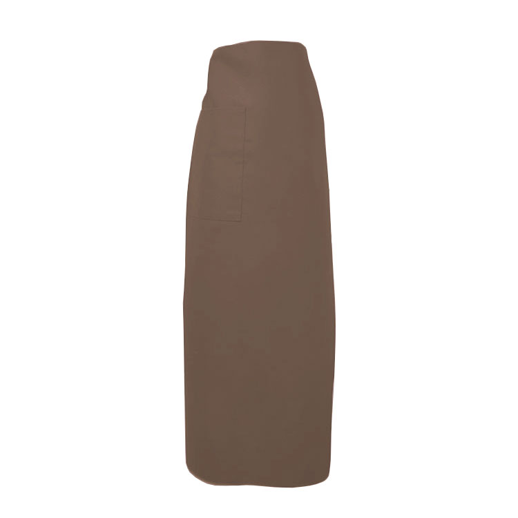 "Intedge 334-1 B Bistro Apron w/ 1-Pocket, 38 x 33.5"", Brown"