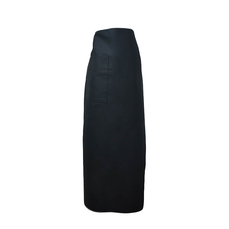 "Intedge 334-1 BLK Bistro Apron w/ 1-Pocket, 38 x 33.5"", Black"