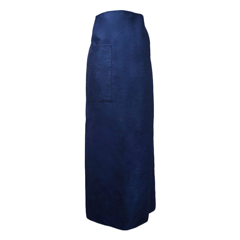 "Intedge 334-1 D Bistro Apron w/ 1-Pocket, 38 x 33.5"", Denim"