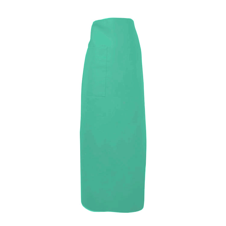 "Intedge 334-1 T Bistro Apron w/ 1-Pocket, 38 x 33.5"", Teal"