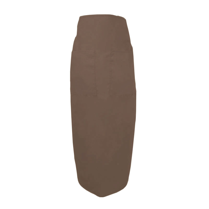 "Intedge 334 B Bistro Apron w/ 2-Pockets, 38 x 33.5"", Brown"
