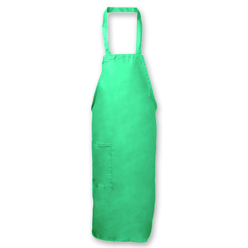 Intedge 335-1 LB Deluxe Bib Apron & Tie w/ Hip Pocket, 32 x 28-in Light Blue