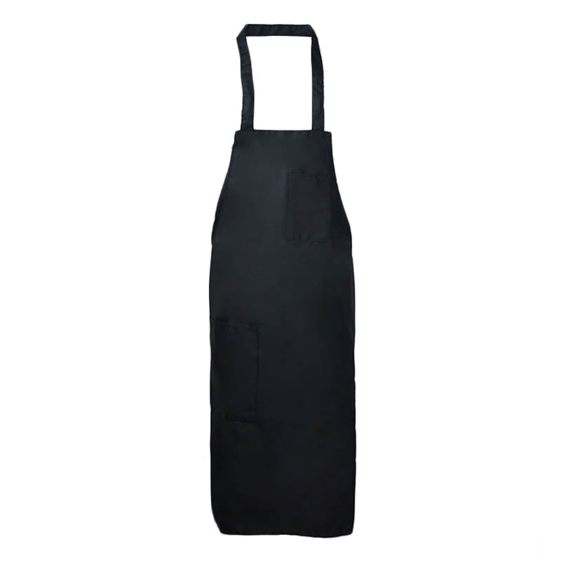 Intedge 335BLK Deluxe Apron, Pockets, Bib, Black