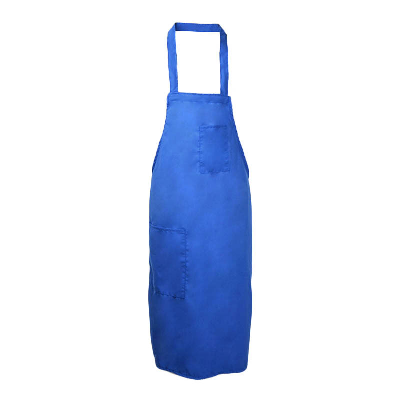 Intedge 335BLU Deluxe Apron, Pockets, Bib, Blue