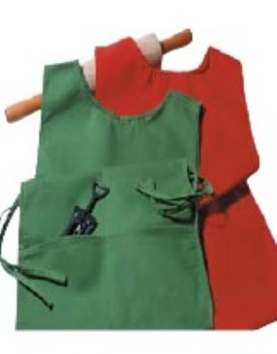 "Intedge 335-HP Bib Apron w/ Pad Pocket, 32 x 28"", Hot Pepper"