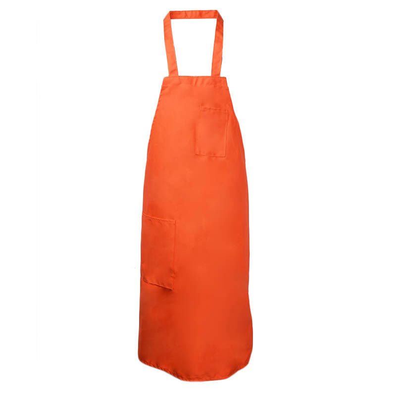 Intedge 335OR Deluxe Apron, Pockets, Bib, Orange