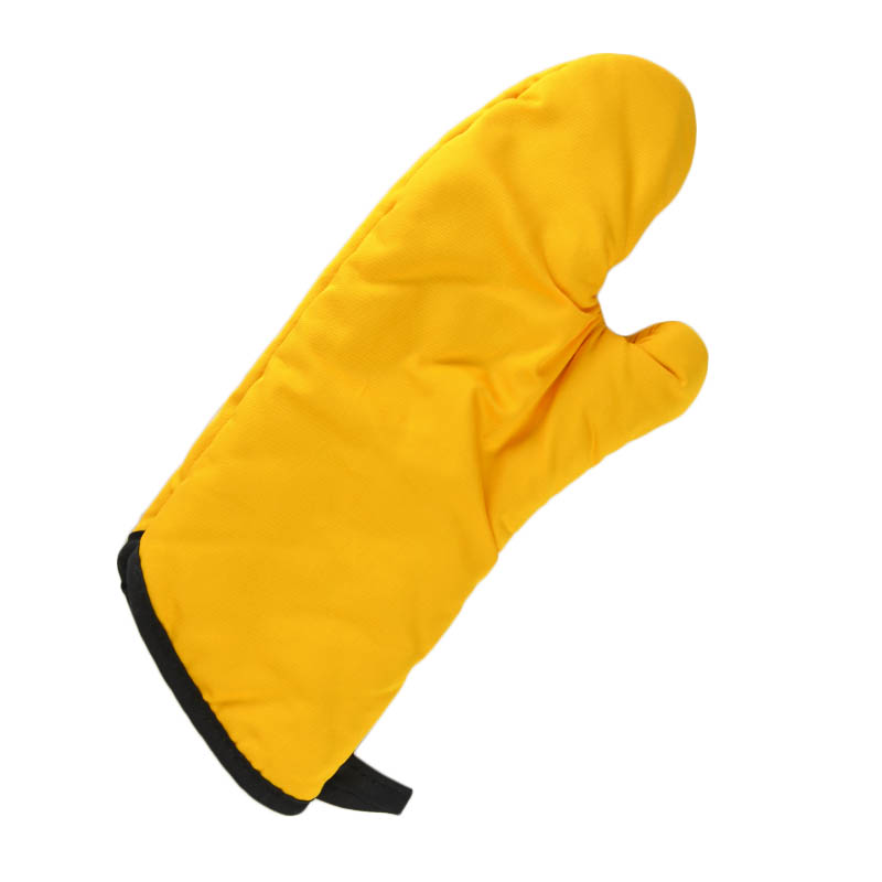 "Intedge 338-15 GO 15"" Oven Mitt, Gold"