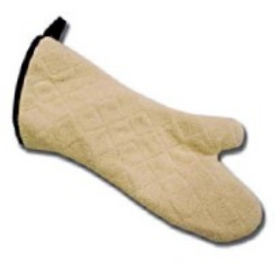 "Intedge 338HDTWA 15 15"" Heavy Duty Washable Terry Oven Mitt, Natural"