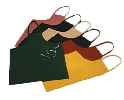"Intedge 339 BU Bib Apron, 32 x 28"", Burgundy"