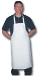 "Intedge 340WS Oversized Bib Apron w/Poly Cotton Blend, 35.5 x 35.5"", White"