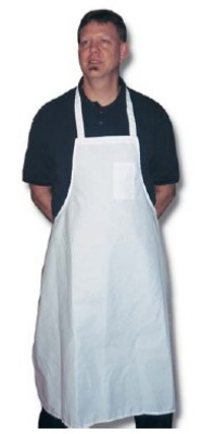 Intedge 340WSP Oversized Bib Apron w/ Pencil Pocket, 36 x 36-in, Poly Cotton, White
