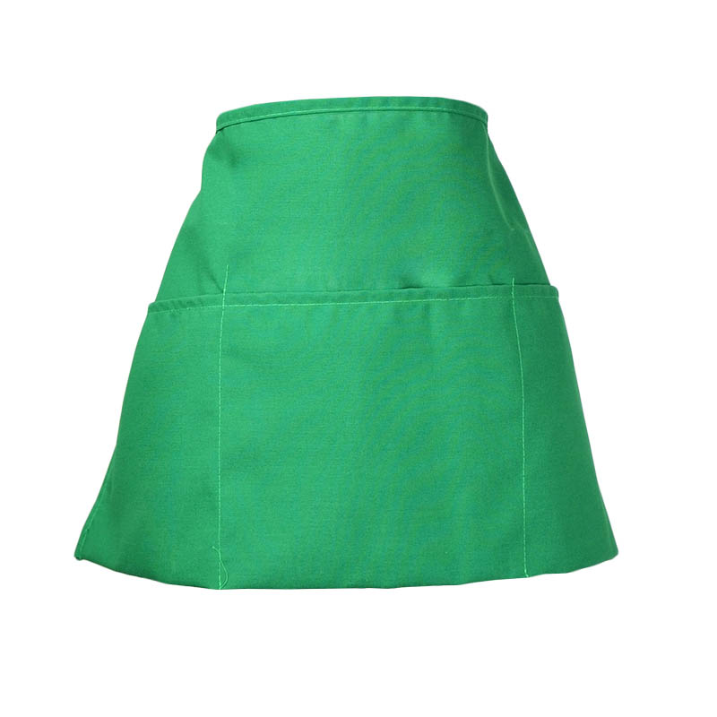 Intedge 342 G Waist Apron w/ 3-Pockets, 11 x 22-in, Green