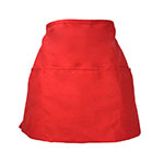 Intedge 342R Apron Half Waist Red, 3 Divided Pockets, Polyester