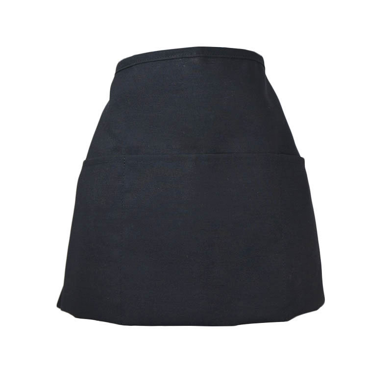 "Intedge 342REV BLK Reversible Waist Apron w/ 3-Pockets, 11 x 22"", Black"