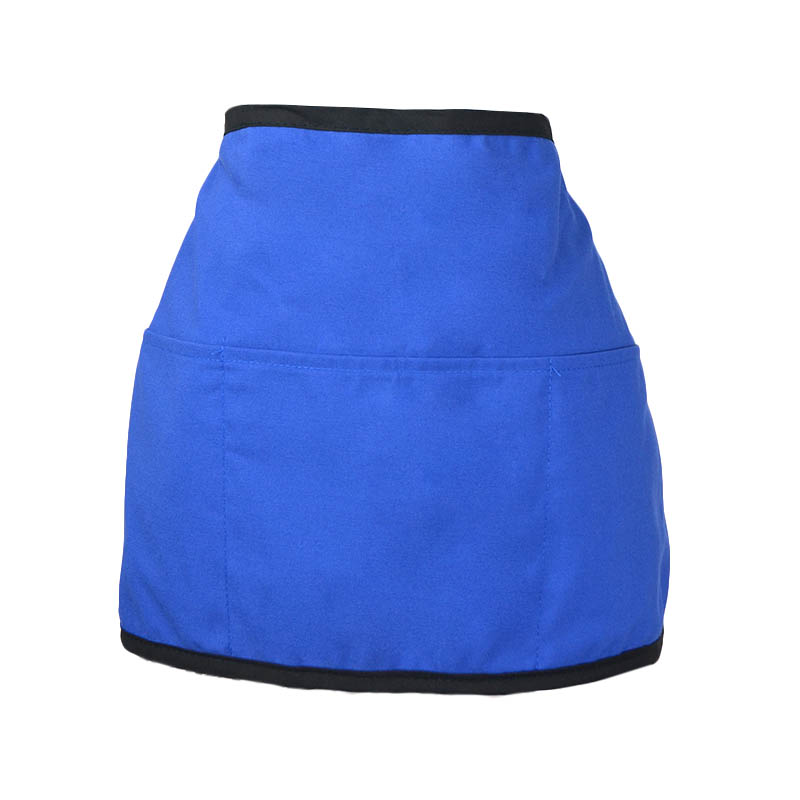 "Intedge 342REV BLU Reversible Waist Apron w/ 3-Pockets, 11 x 22"", Royal Blue"
