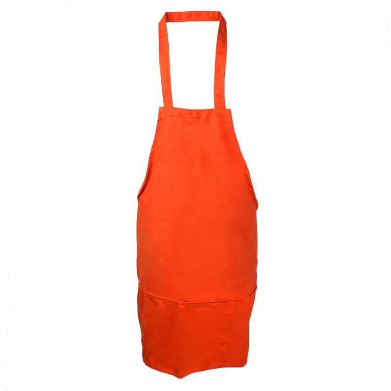 "Intedge 343OR Front Of House Apron w/ 3-Pockets, 25 x 28"", Orange"