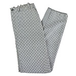 Intedge 34428 Chef Pants, Zipper Fly, Reinforced Crotch, Houndstooth, Size 28