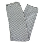 Intedge 34434 Chef Pants, Zipper Fly, Reinforced Crotch, Houndstooth, Size 34