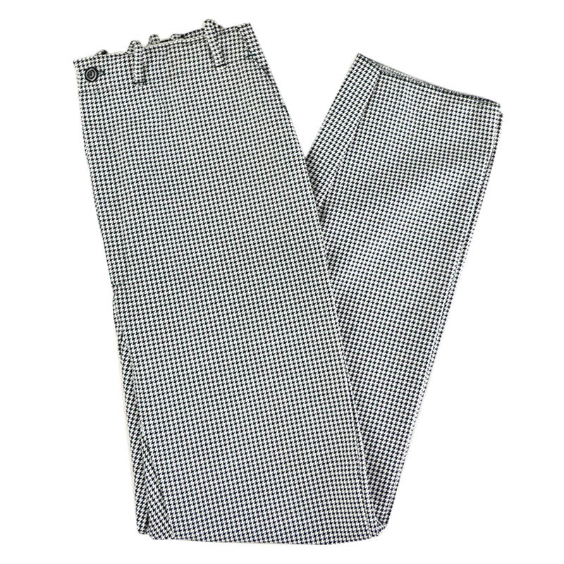 Intedge 34440 Chef Pants, Zipper Fly, Reinforced Crotch, Houndstooth, Size 40