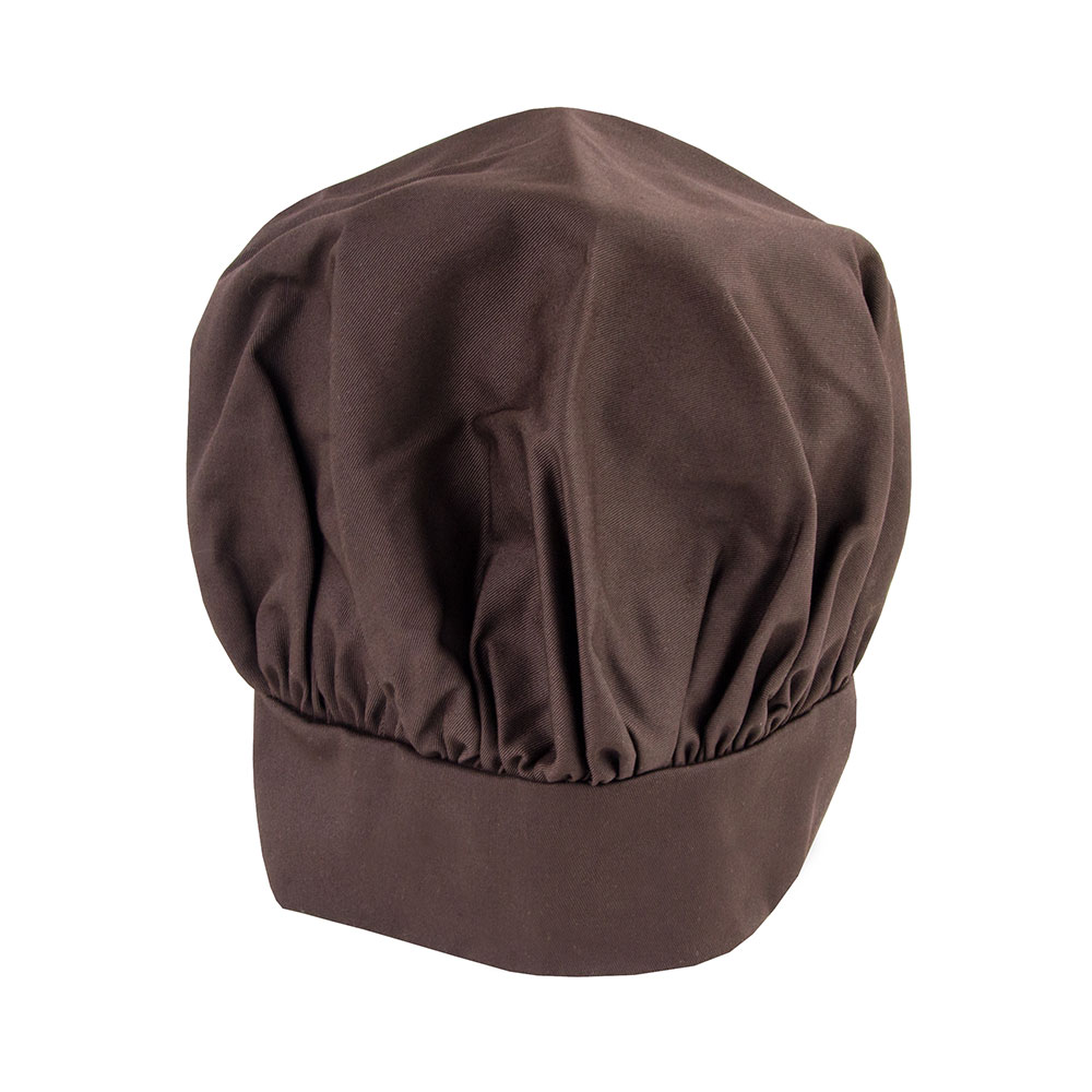 Intedge 346H BU Chef Hat w/ Poly Cotton Blend, One Size, Burgundy