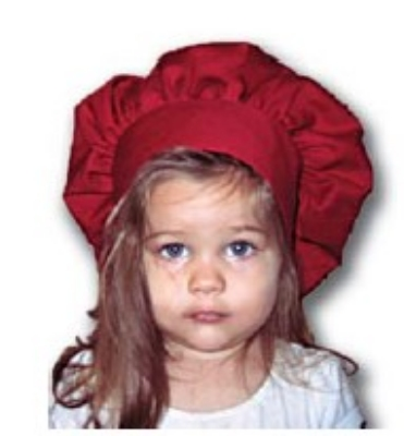 Intedge 346HK BU Kids Chef Hat, One Size, Burgundy