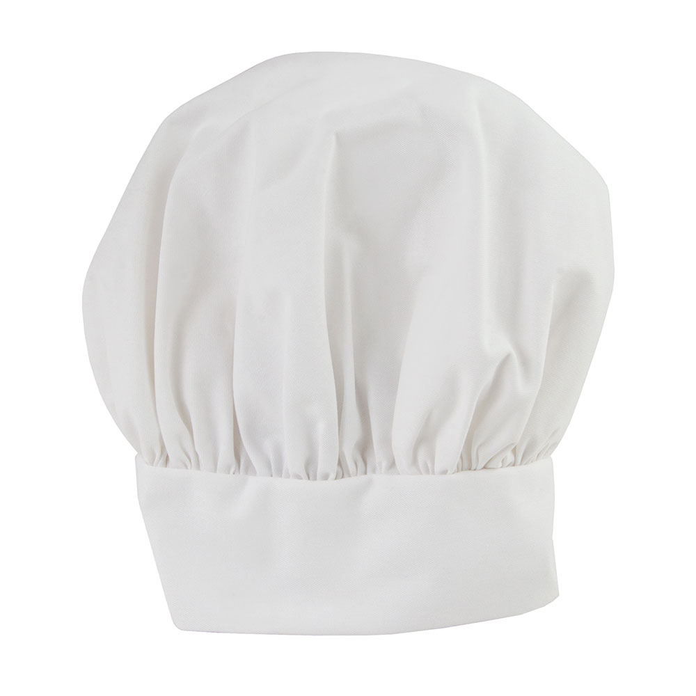 Intedge 346HWH Traditional Professional Chef's Hat, One Size Fits All, Ve