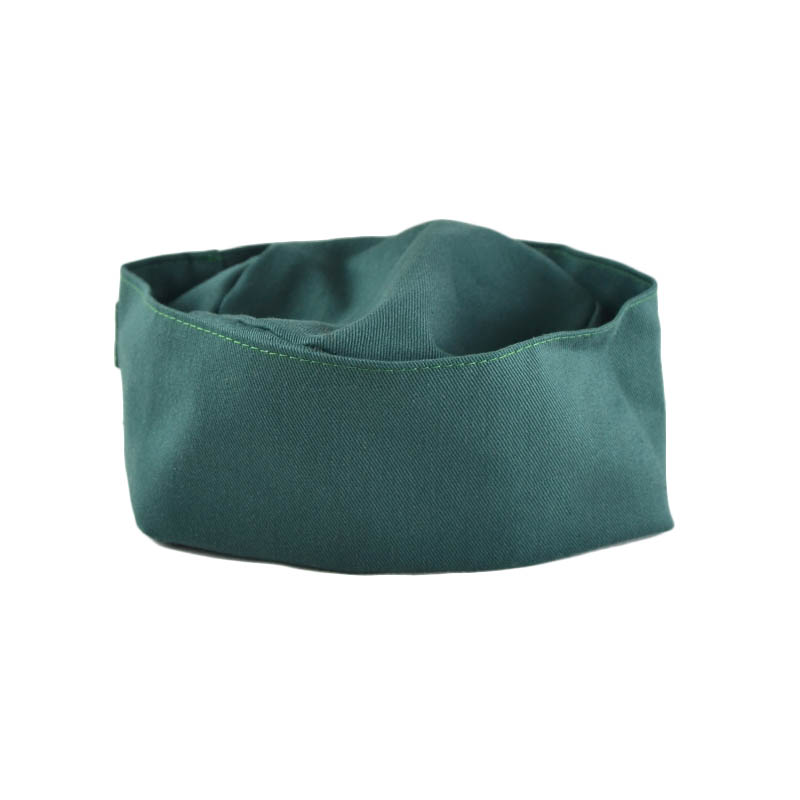 Intedge 346PB HG Pill Box Hat Skull Cap w/ Flat Top, One Size, Hunter Green