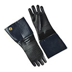 Intedge 6718IR-06-10 18-in Neoprene Rubber Glove w/ Flocked Lining