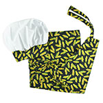 Intedge AHS-10 CORN Apron Hat Set w/ 1-Hip Pocket, Corn Band