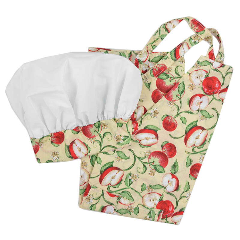 Intedge AHS-13 A Apron Hat Set w/ 1-Hip Pocket, Apple Band