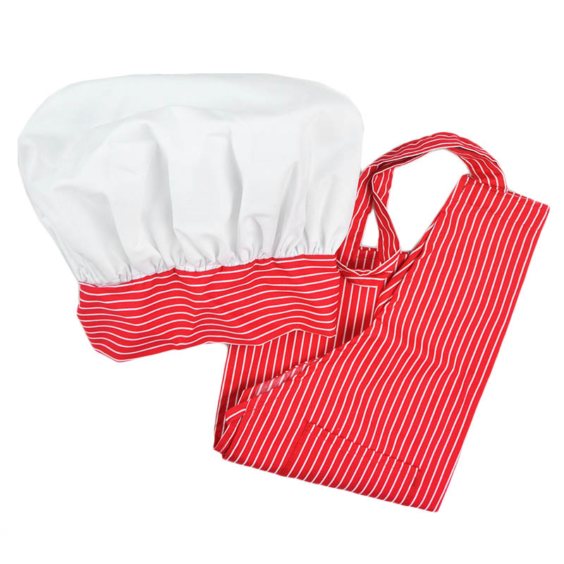 Intedge AHS-7 RS Apron Hat Set w/ 1-Hip Pocket, Red Stripe Band
