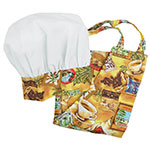 Intedge AHS-K12 CT Kid Apron Hat Set w/ 1-Hip Pocket, Coffee Band