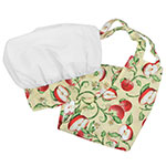 Intedge AHS-K13 A Kid Apron Hat Set w/ 1-Hip Pocket, Apple Band