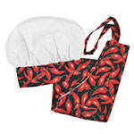 Intedge AHS-Y2 OCH Youth Apron Hat Set w/ 1-Hip Pocket, Chili Pepper Band
