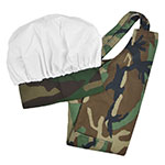 Intedge AHS-Y  CAMO Youth Apron Hat Set w/ 1-Hip Pocket, Camo Band