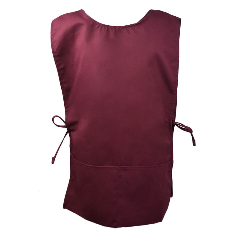 Intedge C335BUR 2 Sided Smock, Burgundy