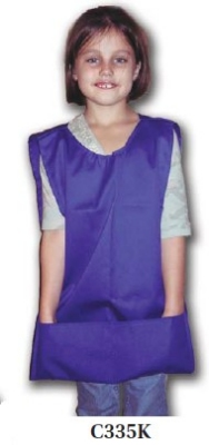 Intedge C335 K BLU Childs 2-Pocket Cobbler Apron, Royal Blue