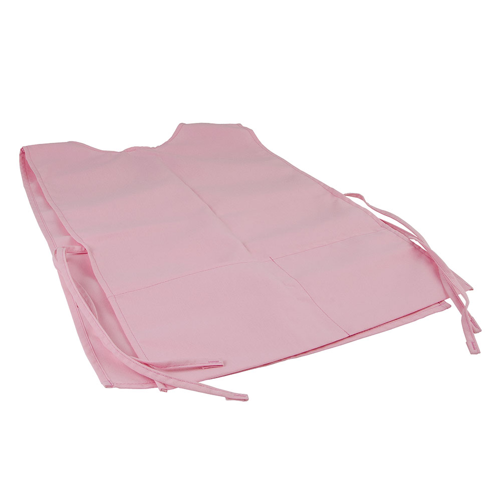 "Intedge C335 LP Cobbler Apron w/ Matching Ties, 2-Pockets, 29 x 18"", Light Pink"