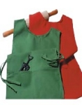 "Intedge C335 T Cobbler Apron w/ Matching Ties, 2-Pockets, 29 x 18"", Teal"
