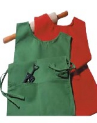 "Intedge C335 GO Cobbler Apron w/ Matching Ties, 2-Pockets, 29 x 18"", Gold"