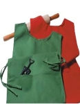 Intedge C335W Cobbler Apron w/ 2-Pockets, 29 x 18-in, White