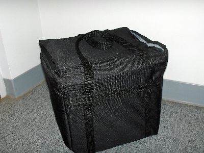 Intedge CIFC-2 BLK Cadura Nylon Insulated Food Carrier, 11 x 13 x 12-in, Black